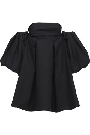 Khaite Women Party Dresses - Katerina Poplin Mini Dress W/puff Sleeve
