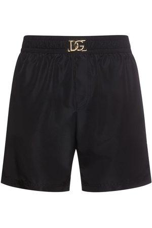 Dolce & Gabbana Men Swim Shorts - Dg Nylon Swim Shorts W/ Pocket Bag