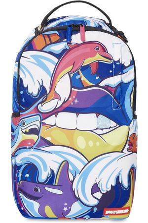 Sprayground Tsunami Print Canvas Backpack