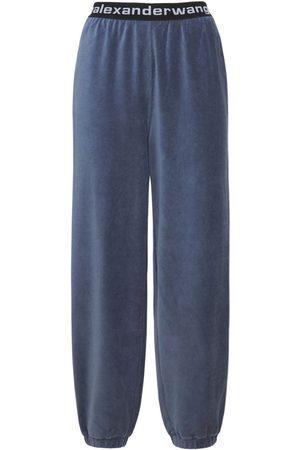 Alexander Wang Stretch Corduroy Sweatpants W/ Logo