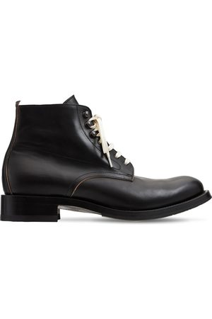 SHOTO Men Lace-up Boots - Leather Lace-up Boots