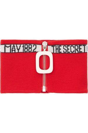 JW ANDERSON Oscar Wilde Zip-up Wool Knit Neckband