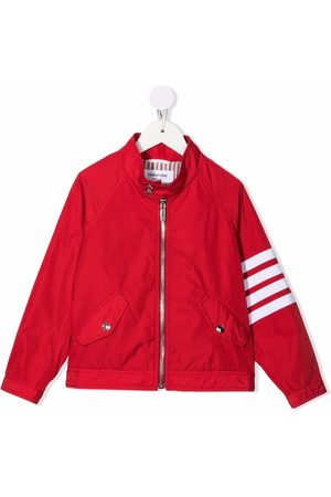 Thom Browne Kids 4-Bar bomber jacket