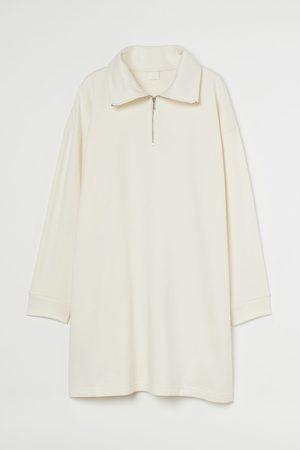 H&M Women Sweatshirts - Collared Sweatshirt Dress