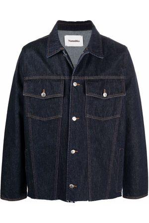 Nanushka Men Denim Jackets - Raw-cut denim jacket