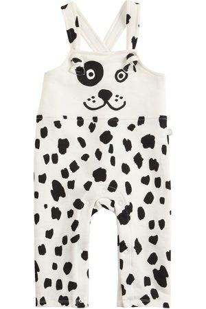 Stella McCartney Girls Dungarees - Dalmatian Print Cotton Overalls