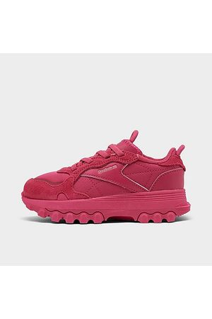 Reebok Girls' Toddler Cardi B Classic Leather Casual Shoes in /Semi Pursuit Size 4.0 Leather/Suede