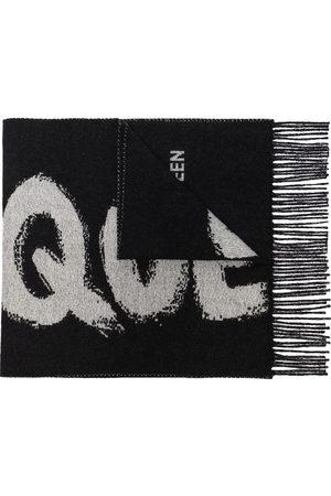 Alexander McQueen Graffiti print scarf