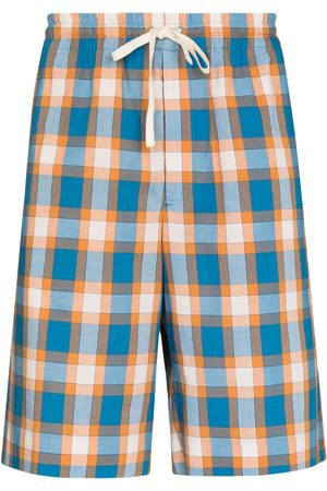 Gucci Men Bermudas - Check print drawstring Bermuda shorts