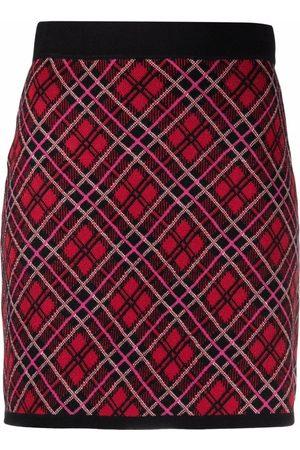 Pinko Women Printed Skirts - Plaid-pattern knit skirt