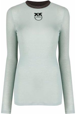 Pinko Women Long Sleeve - Logo-print long-sleeve T-shirt