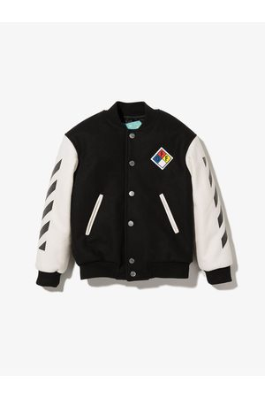 Off-White Kids Boys Bomber Jackets - Arrows button-up bomber jacket