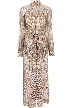 Camilla Women Printed Dresses - Long animal-print dress