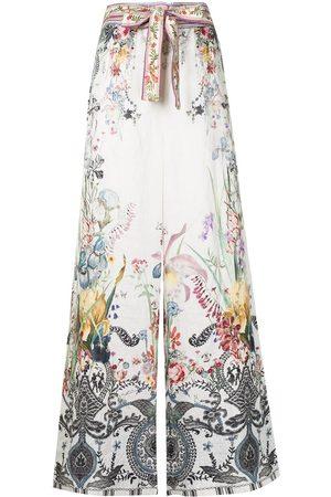 Camilla Women Wide Leg Pants - Paperbag-waist trousers - Multicolour