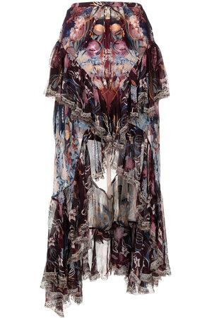 Camilla Women Skirts - Frilled high-low hem skirt - Multicolour