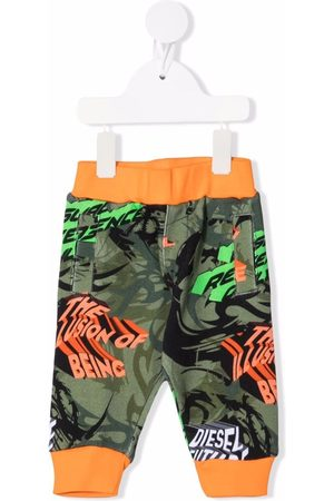 Diesel Baby Sweatpants - Camouflage-print cotton track trousers