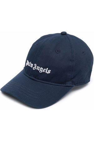 Palm Angels Boys Caps - CLASSIC LOGO BASEBALL CAP NAVY WHI