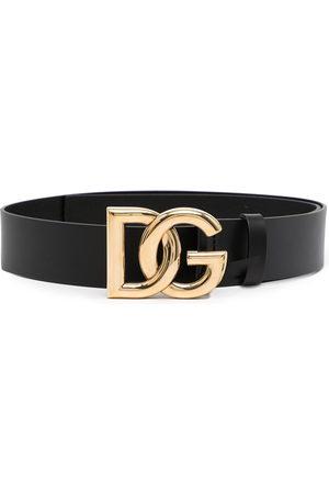 Dolce & Gabbana Men Belts - Logo-plaque leather belt