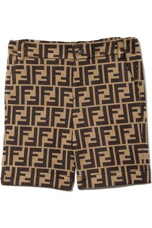 Fendi Shorts - FF-logo shorts