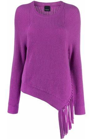 Pinko Women Sweaters - Asymmetrical tassel-trim jumper