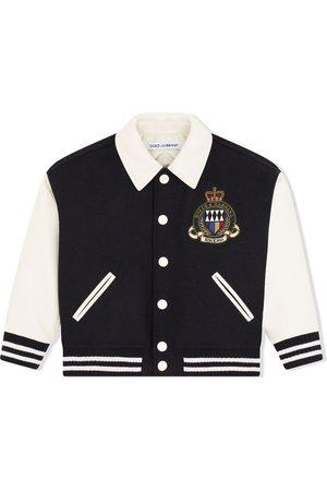 Dolce & Gabbana Boys Bomber Jackets - Embroidered-logo baseball jacket