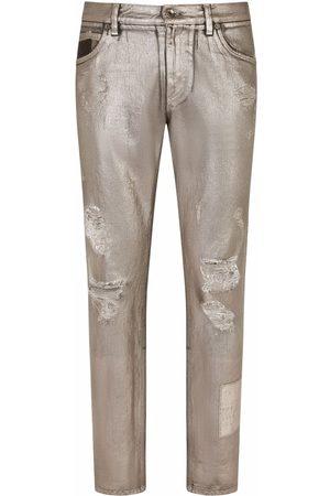 Dolce & Gabbana Ripped-detail denim jeans - Grey