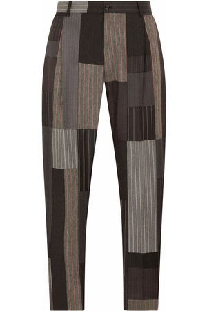 Dolce & Gabbana Men Formal Pants - Patchwork tailored trousers