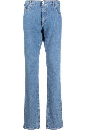 BILLIONAIRE Men Slim - Iconic Crest embossed straight-cut jeans