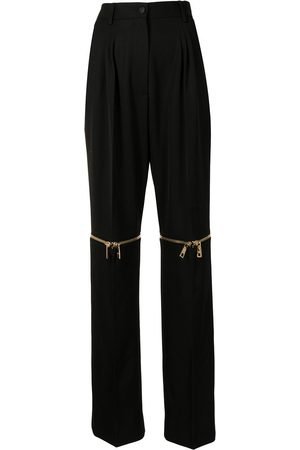 Dolce & Gabbana Women Straight Leg Pants - Detachable-leg wool trousers