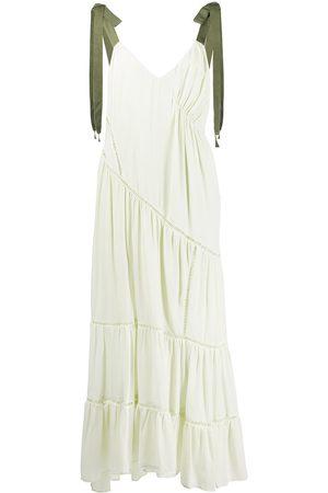 Cinq A Sept Women Dresses - Tiered pointelle-detail silk dress