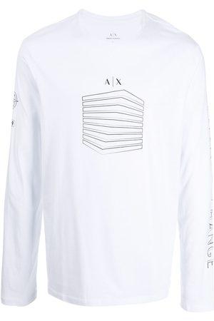 Armani Men Long Sleeve - Long-sleeve logo top