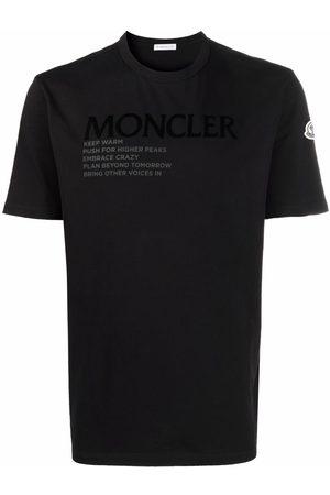 Moncler Men Short Sleeve - Logo-graphic letter-print short-sleeve T-shirt