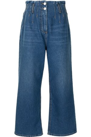 Msgm Women High Waisted - High-rise wide-leg jeans