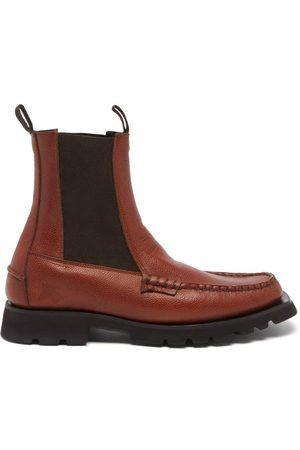 Hereu Men Chelsea Boots - Alda Sport Leather Chelsea Boots - Mens - Tan
