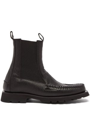Hereu Men Chelsea Boots - Alda Sport Leather Chelsea Boots - Mens
