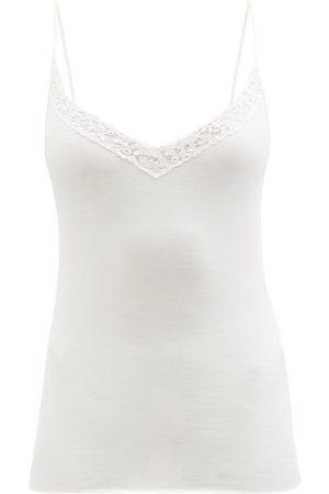 Hanro Cora Lace-embroidered V-neck Cotton Cami Top - Womens