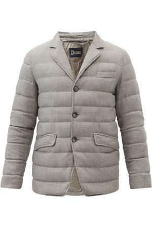 HERNO Norfolk Quilted Down Blazer Coat - Mens - Grey