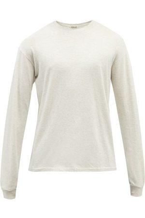Auralee Seamless Long-sleeve Cotton Jersey Top - Mens - Light Grey