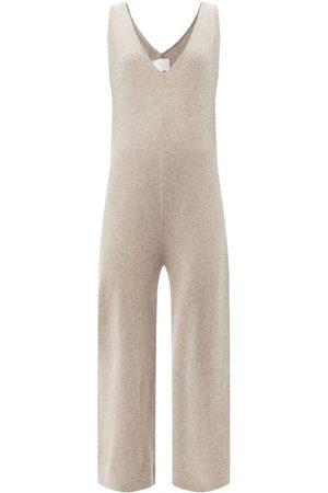 Allude Women Sweats - V-neck Wool-blend Jumpsuit - Womens
