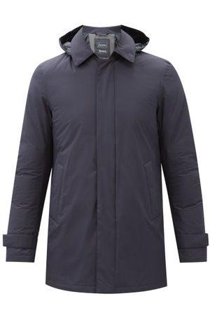 HERNO Laminar Gore-tex Down Hooded Coat - Mens - Navy