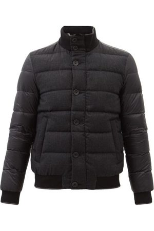 Herno Panelled Wool-blend And Quilted Down Coat - Mens
