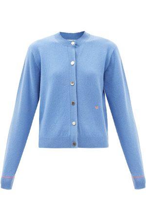 Victoria Beckham Logo-embroidered Wool-blend Cardigan - Womens