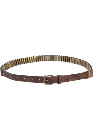 Céline Metal And Leather Waist Belt 75 CM