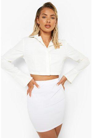 Boohoo Womens Woven Mini Tube Skirt - - 2