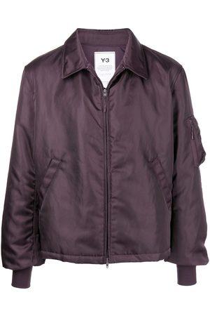 Y-3 Men Bomber Jackets - Classic-collar bomber jacket