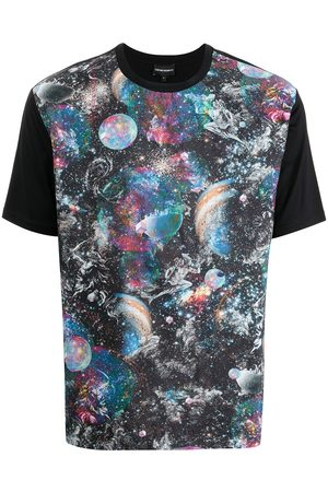 Emporio Armani Men T-shirts - Surreal print T-shirt - Multicolour