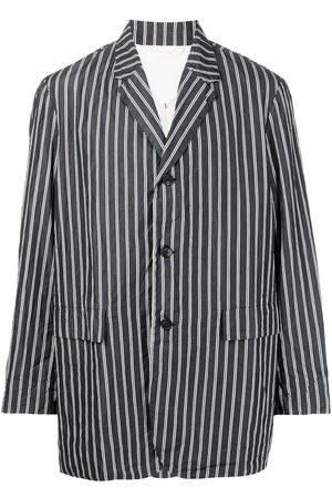 CASEY CASEY Men Blazers - Single-breasted pinstriped jacket