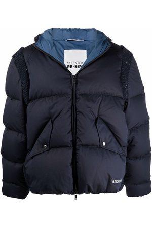 VALENTINO Contast-panel puffer jacket