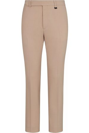 Fendi Men Formal Pants - Slim-fit tailored trousers - Neutrals