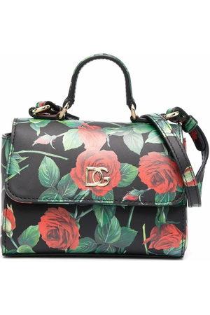 Dolce & Gabbana Girls Bags - Rose-print tote bag
